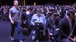 Mark Zuckerberg demoing VR system